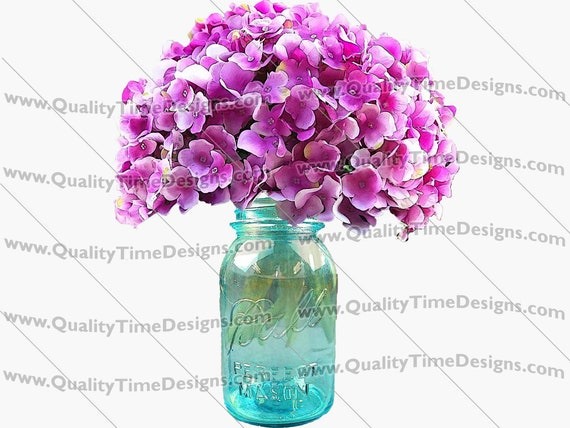 Clipart - Ball Jar Vase 101 - by Quality Time Designs
