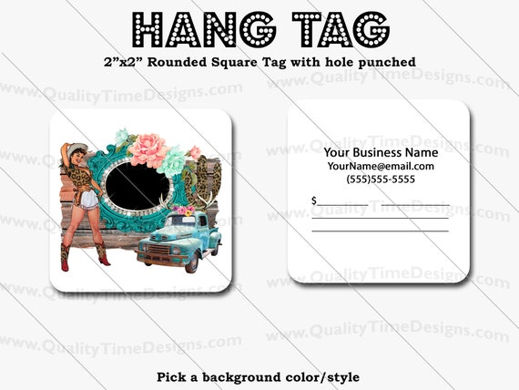 Premade Design for Custom Hang Tags 111 - Full Color Printing Front and Back - by Quality Time Designs