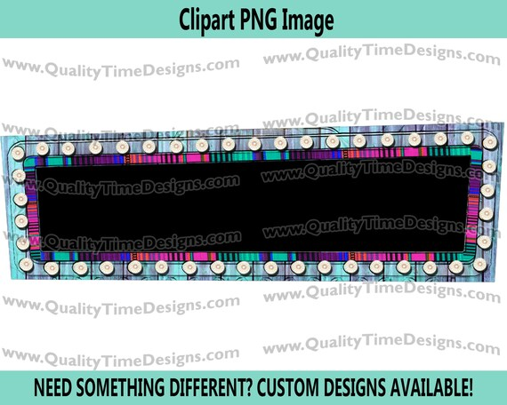 Rectangle Marquee Frame 002 Marquee Sign Frame with Lights Vegas Sign Clipart - by Quality Time Designs