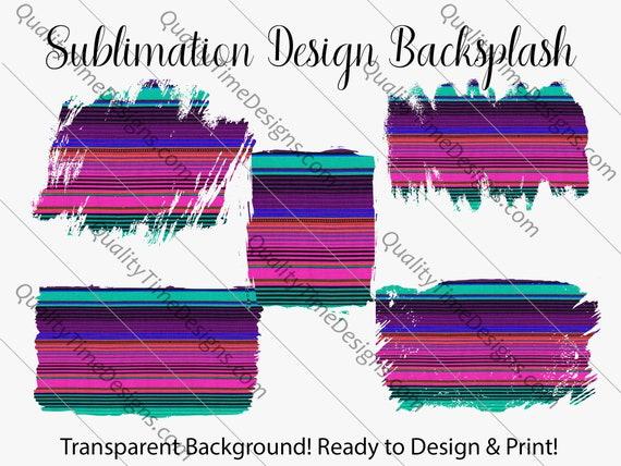 Sublimation Design Transfer Background Splash - BOHO Serape - Printable - Print and Cut - PNG Transparent - Element Collection