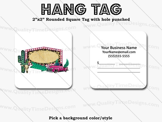 Premade Design for Custom Hang Tags 102 - Full Color Printing Front and Back - by Quality Time Designs