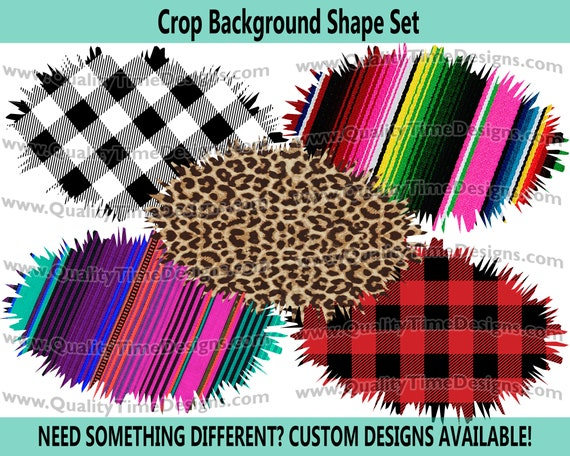 Sublimation Backsplashes Crop Background Shapes Vol 2- Leopard Cheetah Print - Print and Cut - PNG Transparent - Element Collection