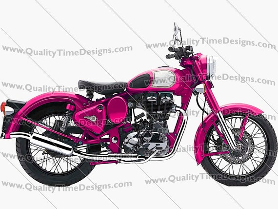 Motorcycle Clipart Motorcycle 101 Pink - by Quality Time designs