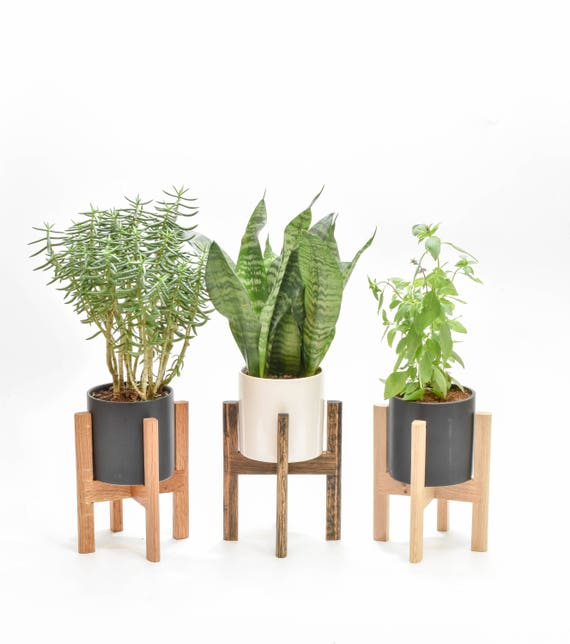 mid century modern planter Small Mid Century Modern Planter Mid Century Planter Stand   Etsy mid century modern planter
