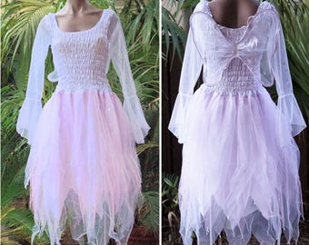 PLUS SIZE Fairy Dress Party Costume with Wings WHITE /& PINK Angel