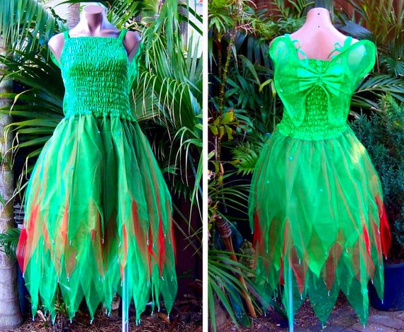 Plus Size Fairy Dress Adult Size Party Costume With Wings Etsy