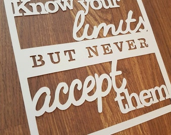 COMMERCIAL PAPERCUT TEMPLATE | Never accept your limits