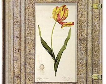 Vintage Collection Flora and Fauna Light Brown Tulip Journal