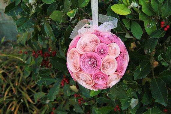 Wedding paper flower pomander ball hanging floral decoration mightylinksfo