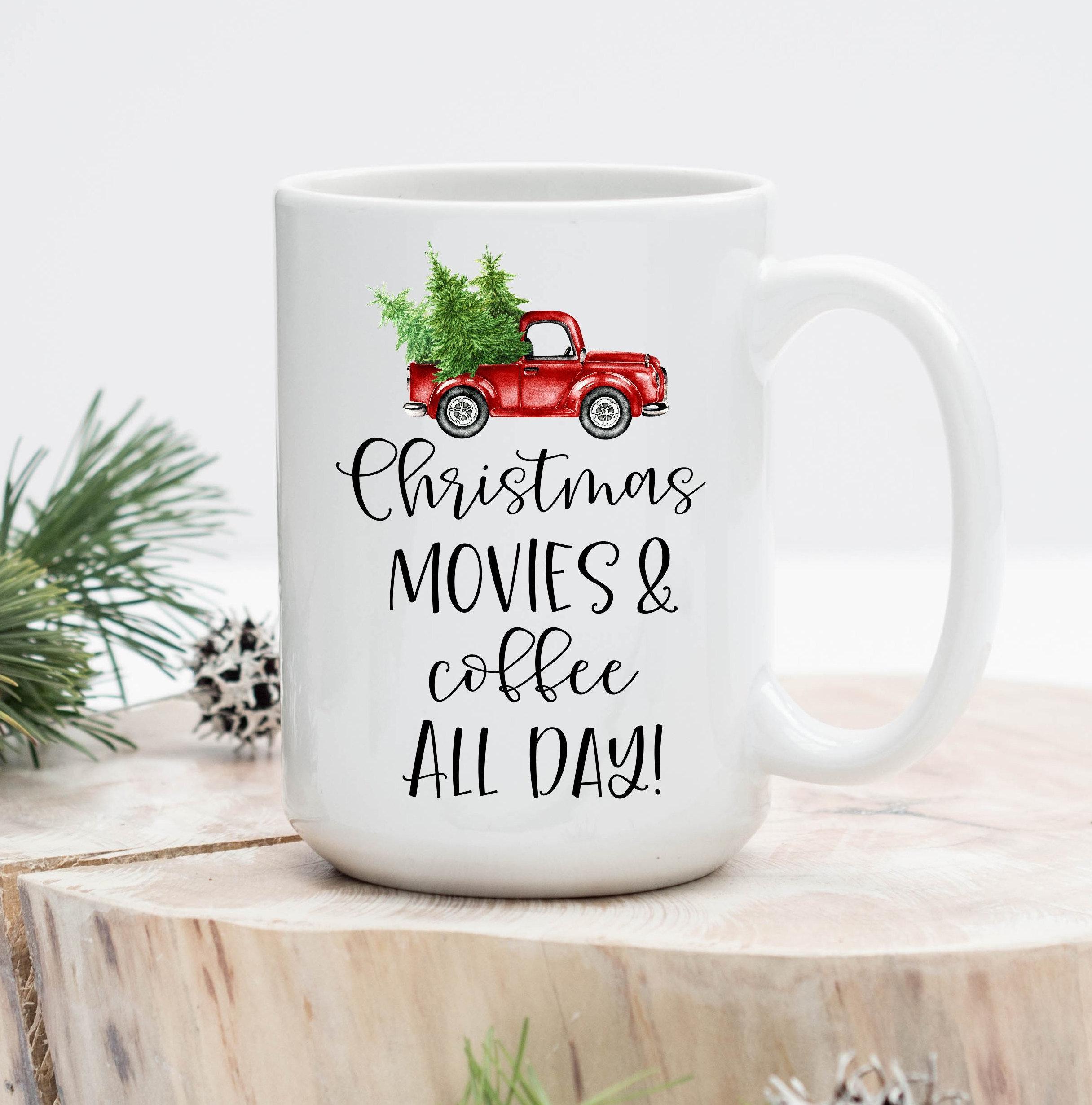 Christmas Movies and Coffee all day mug Hallmark Christmas | Etsy