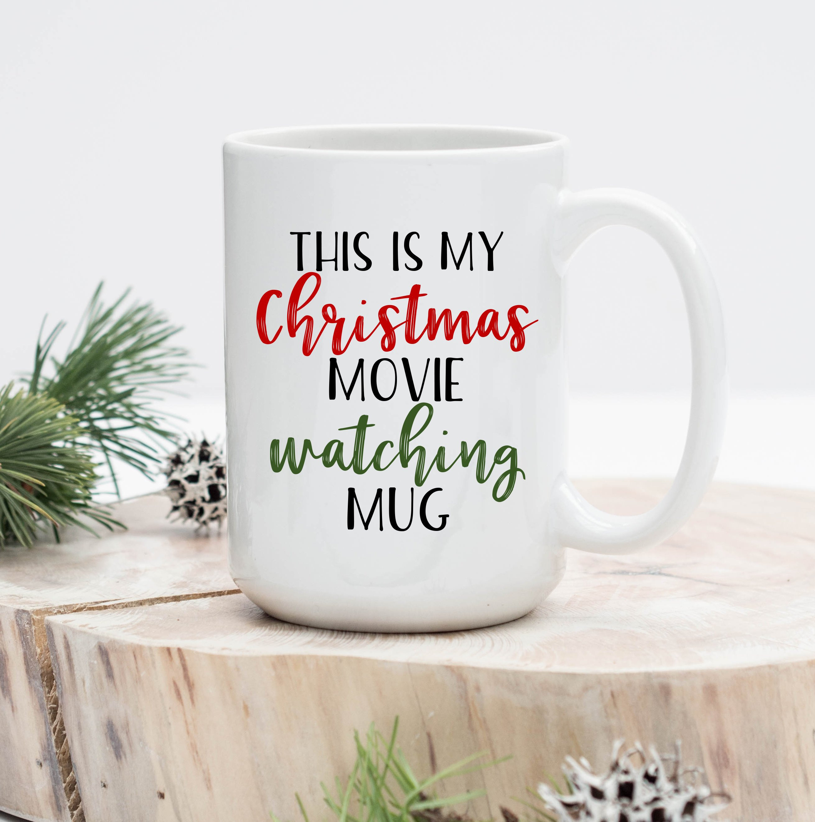 This Is My Christmas Movie Watching Mug Hallmark Christmas | Etsy