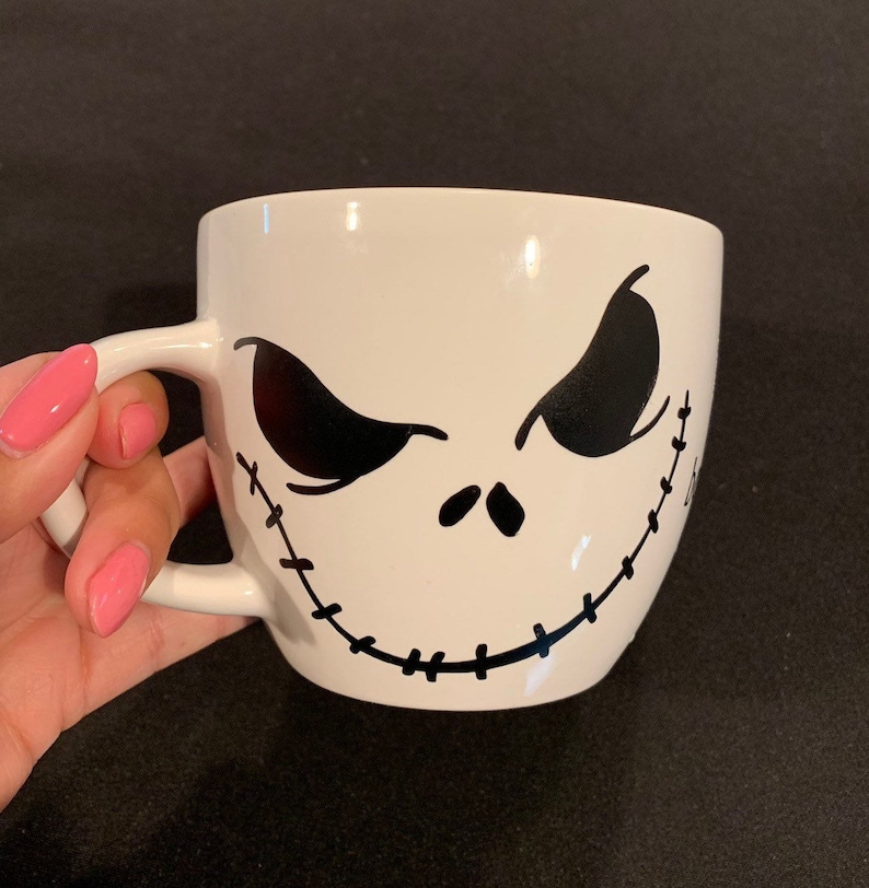 Jack Christmas Skellington MugNightmare Disney Coffee Mug Before Sally YHD9EW2I