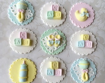 Baby Shower Cupcake Toppers Etsy
