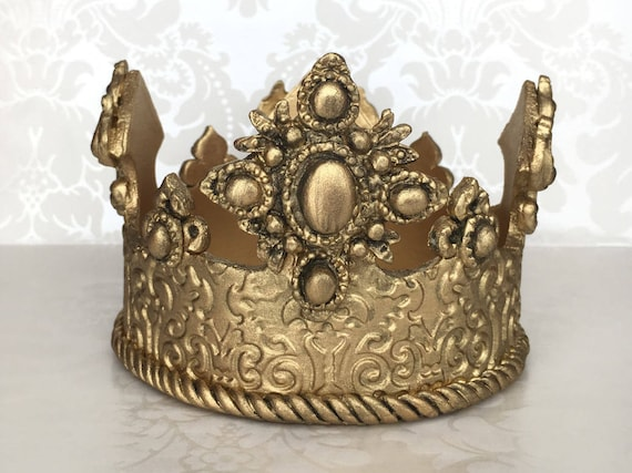 gold crown cake topper prince crown cake topper gold cake etsy
