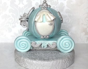 Princess Cake Topper. Cinderella Carriage Cake Topper. Fondant Princess Carriage Cake Topper. Cinderella Fondant Cake Topper. Carriage Cake.