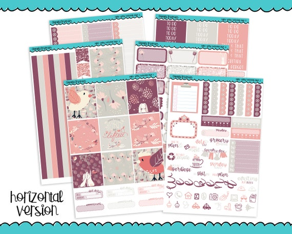 Horizontal Happy Spring Rabbit Animals Themed Planner Sticker Kit for Erin  Condren, Happy Planner or Any Other Planner