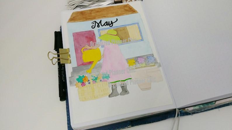 Printable Art Journal Cover Pate