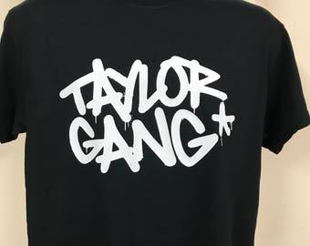 f613cd7d34c62 Wiz Khalifa Inspired Taylor Gang logo Wu tang Snoop Dre T shirt