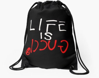 30ebd2bd381 Designer inspired Drawstring Bag Life is 4 Supreme White Gym Boxing Backpack  Rucksack Bape Anti Social Baby Nappy Hypebeast Kids School