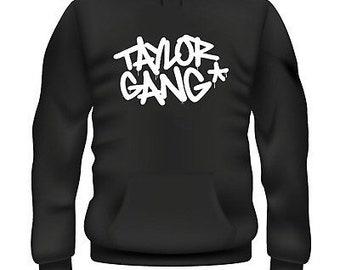 67b4baeffb4b8 Wiz Taylor Gang Weed Marijuana Dope Inspired Hoodie Retro Old School  Gangster Rap Hip Hop Streetwear Dope Tumblr Custom Designer Novelty Gif