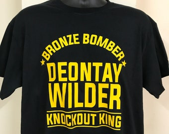 b9592a20a Deontay Wilder KO King Custom T shirt Thai Jiu Jitsu Boxing MMA Muay Thai  Gym Gift Fan Motivation Fury Canelo Khan Wilder