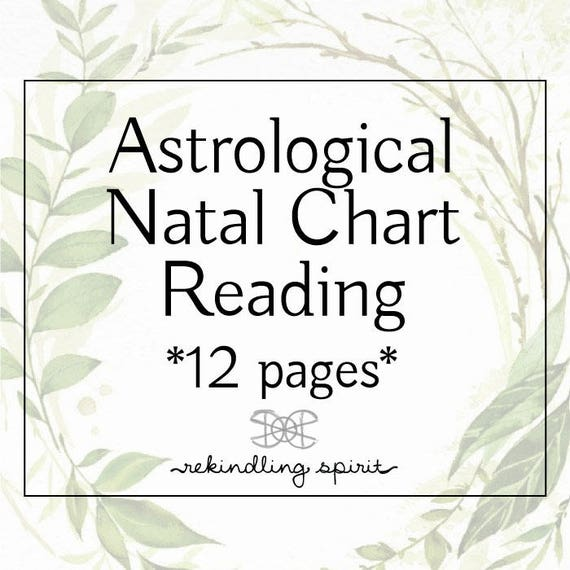 Astrological Natal Chart Reading Intuitive Guidance Etsy
