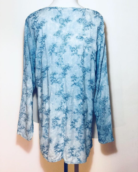 Blue Indian Embroidered Top - image 5