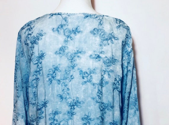 Blue Indian Embroidered Top - image 4