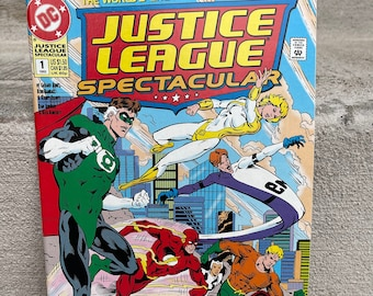 Justice League Spectacular Teamwork Vol 1 1992 Published by DC Comics / Superman / Aquaman / Flash / Blue Beetle