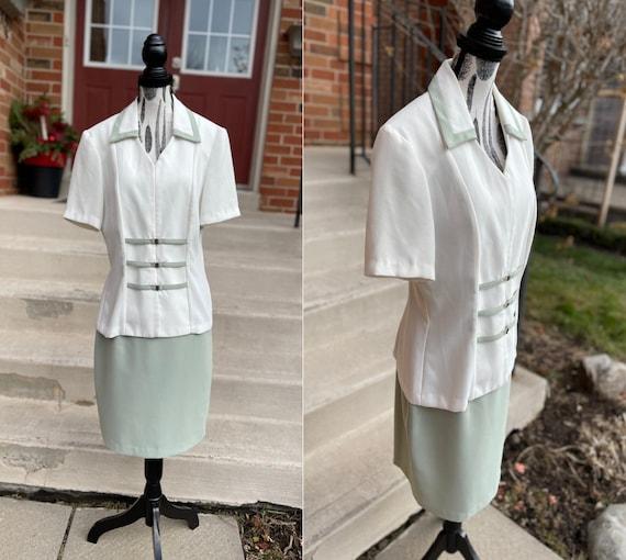 Vintage Skirt Suit / 80s Skirt Set / 80s Power Sui