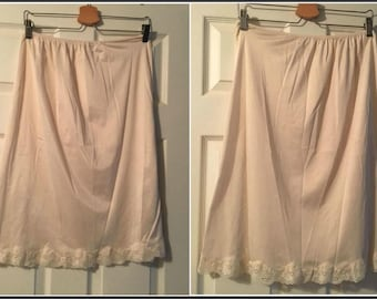 Vintage Slip with Lacy Trim Size Medium