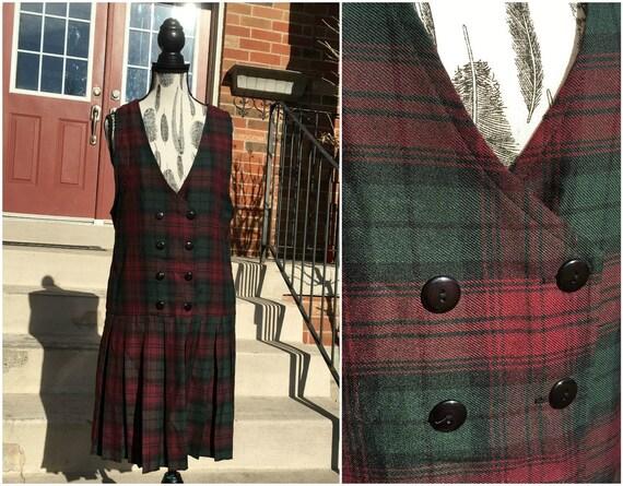 Zig Zag Plaid Pinafore Dress Women Pinafore Dress