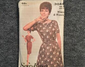 Vintage 1960s Sew Easy Advance Dress Pattern - Size 20 Bust 40