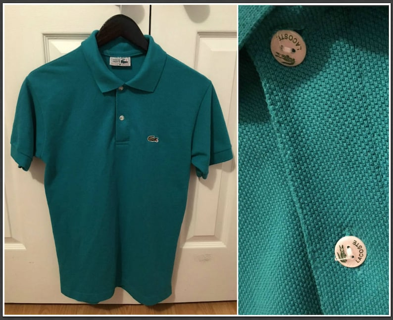 1a63b137beb1 Vintage 1990s La Chemise Lacoste Men s Green Polo Shirt