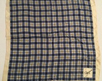 Vintage Schiaparelli Glentex Tartan Silk and Rayon Scarf