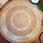 Northern Hemisphere Wheel of the Year // Pagan Witch Calendar Board