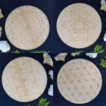Twin Pack // Any Two 30cm Boards // Laser Engraved Crystal Grids & Altar Tiles