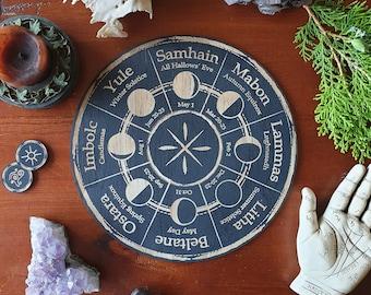 Moon Phase Wheel of the Year // Pagan Witch Calendar Board // Magickal Calendar