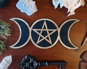 Triple Goddess Altar Tile // Magickal Decor