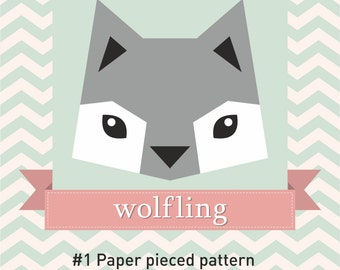 Paper Pieced Quilt Pattern - Wolfling