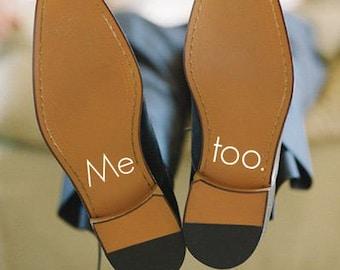 Me too. Men's wedding shoe decal ~ Wedding Shoe Decal ~ Wedding Shoe Sticker ~ Wedding Day Accessory ~ Custom Decal ~ Groom shoe Decal