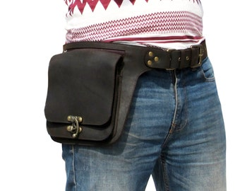 Real Leather Hip Bag and Utility Belt. Festivals. Travel. Workplace. The Ultimate Waist Pack Travel Belt NMDC