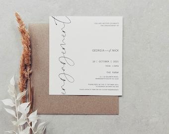 Elegant Wedding Rustic A6 PDF Custom Designed DIY wedding PRINTABLE Engagement Invitation We/'re getting married Kraft Print yourself