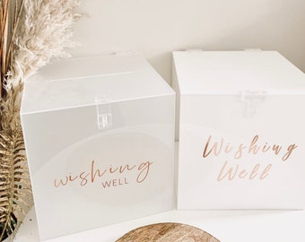 93015325e8d HIRE - WISHING WELL | Wedding Wishing Well | Engagement | Cards & Well  Wishes | Cards + Gifts | Acrylic Wishing Well | Frosted Acrylic