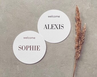 PRINTED Placecards Guest tags Table Decor Wedding Setting Table Setting