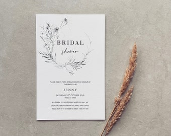 PRINTED // Bridal Shower // Invitations Miss to Mrs Bride to be Hens Party Kitchen Tea Bachelorette