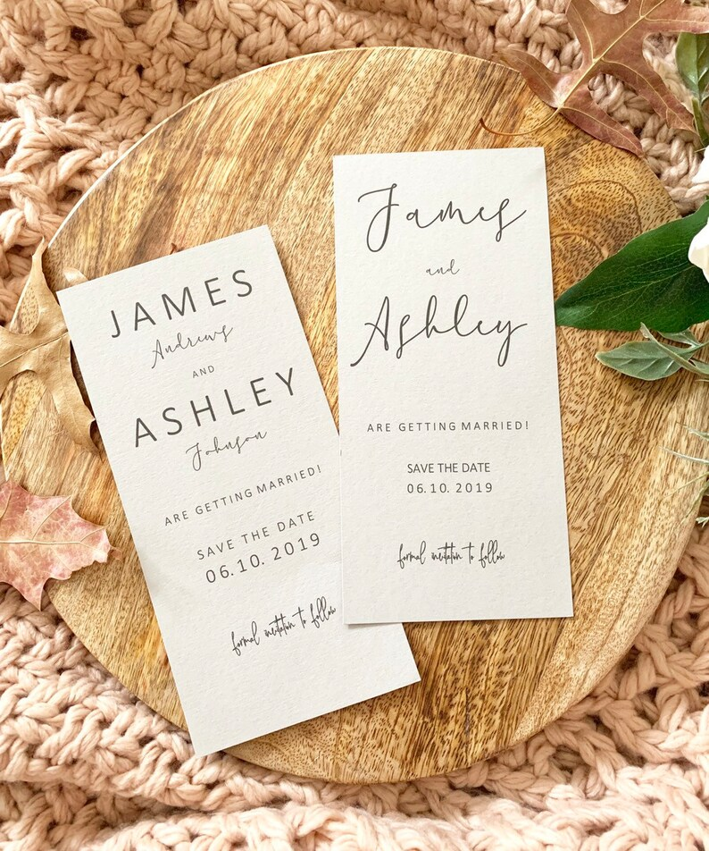 Cards with Envelopes Tying The Knot Save the Date Tags Wedding Invitations