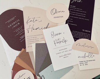 Sample Package - Invitations, menus and placards
