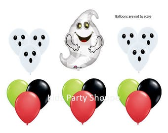 Happy Ghost Balloon Set Friendly Ghosts Halloween Birthday Party Decoration Decor Supplies Photo Prop Supplies