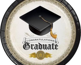 Graduation Cap u0026 Gown Dinner Plates ... & Buffet plates | Etsy